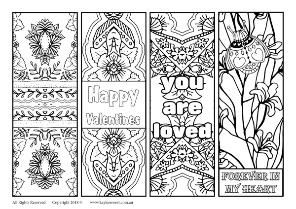picture regarding Printable Bookmarks Black and White identified as Cost-free printable bookmarks towards shade and bless relished types