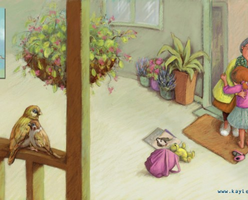 Celia and Nonna. Alzheimer's and dementia in picture book. Hospice.