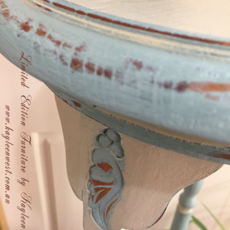painted antique planter