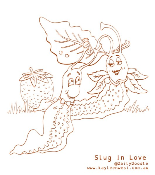 Slug In Love Illustration Free Colouring Pages Download Kids Activities Educational Aids