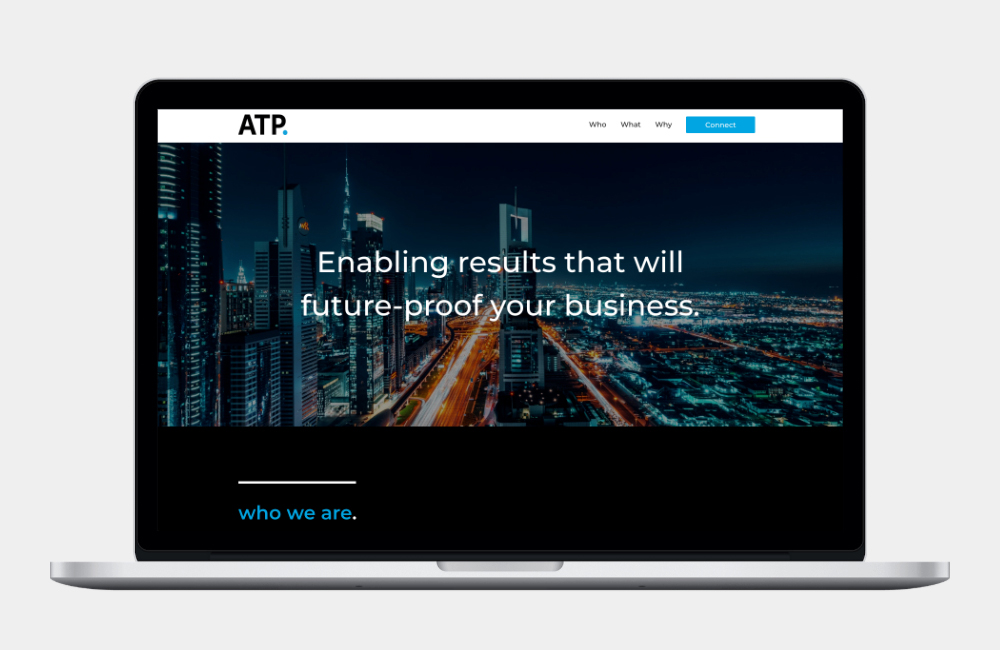 WordPress web design client project for Access to Power