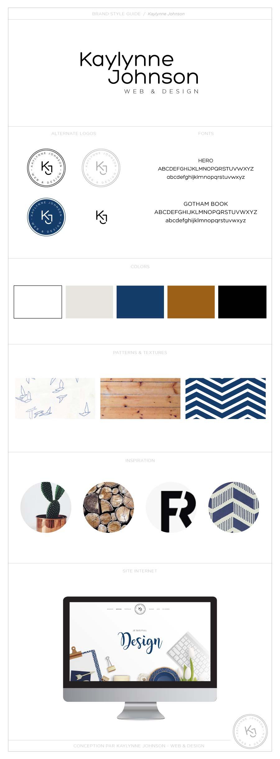 Branding board Kaylynne Johnson | Design by Kaylynne Johnson - web & design