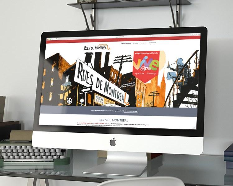 Site wordpress.com pour Rues de Montréal | Kaylynne Johnson - web & design | www.kaylynnejohnson.com