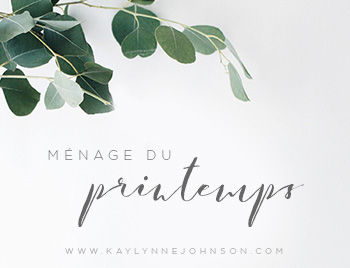 Ménage du printemps - Kaylynne Johnson web & design