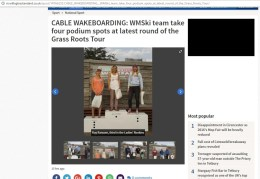Competing in amateur wakeboarding in Southampton