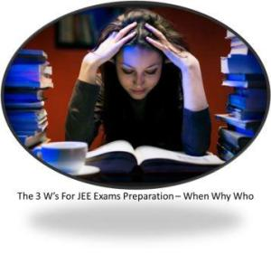 The 3 W's For JEE Exams Preparation – When Why Who