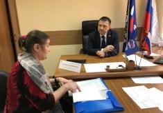 Депутат Тульской областной Думы Алексей Альховик провел приём граждан
