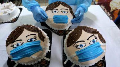 Photo of Gaza: Tortama s likom djeteta s maskom na licu podižu svijest o koronavirusu