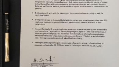 Photo of Pročitajte šta sadrži sporazum iz Vašingtona