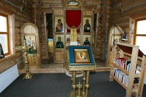 Внутреннее убранство храма Св. Троицы в Антарктиде