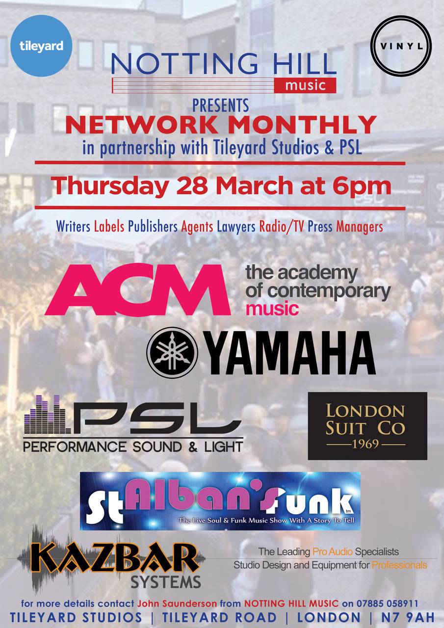 Notting Hill Music Networking at Tileyard Studio from Kazbar Systems