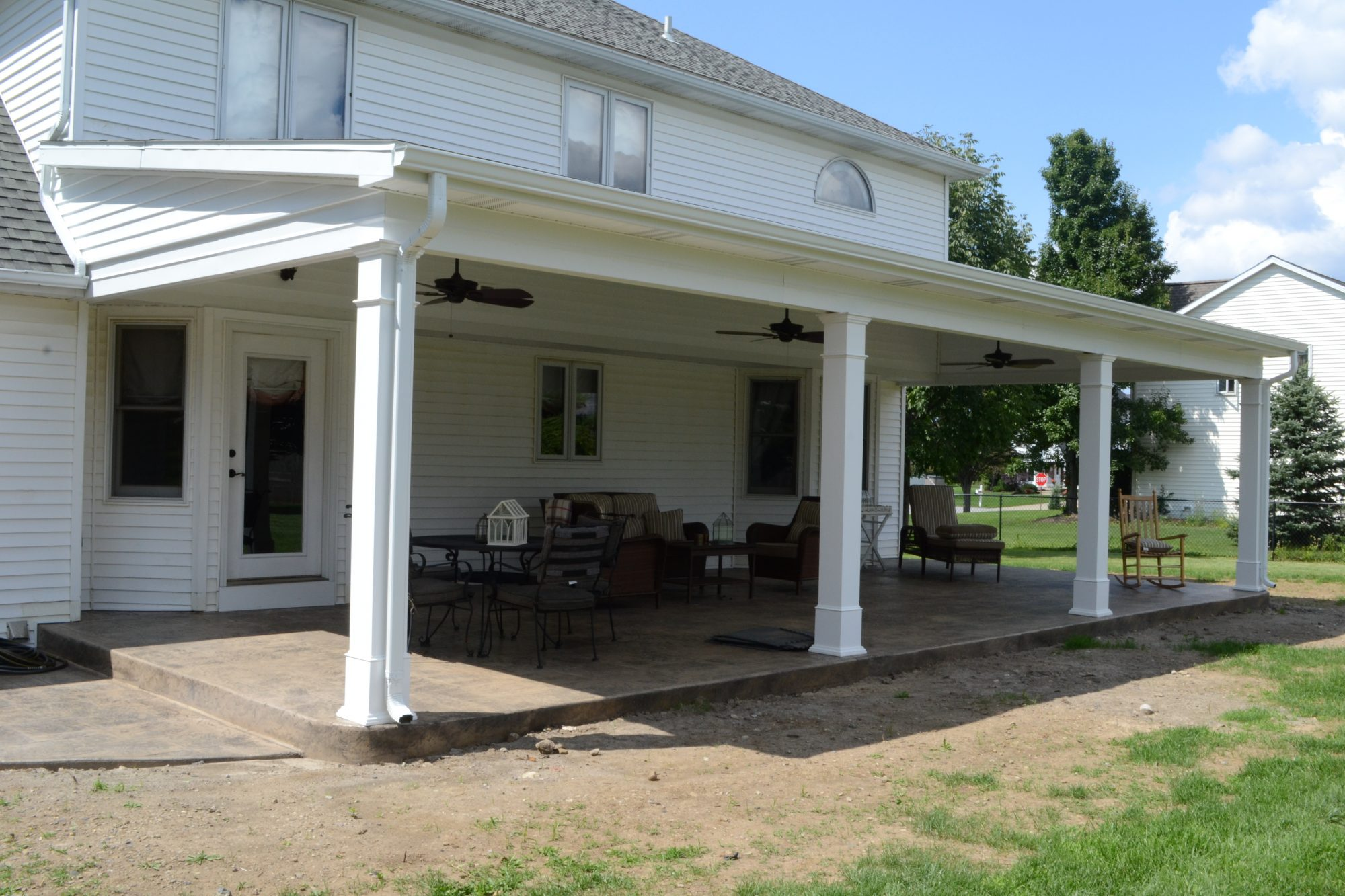 Patio Roofs, Porches, and Decks Gallery - Kaz Home ... on Roof For Patio Ideas id=73944