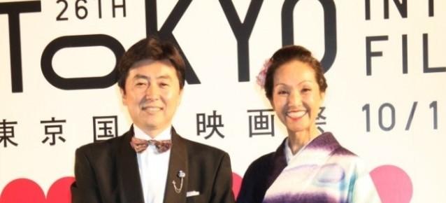東京国際映画祭にて服部真湖様ご司会着用 「とくダネ」放映