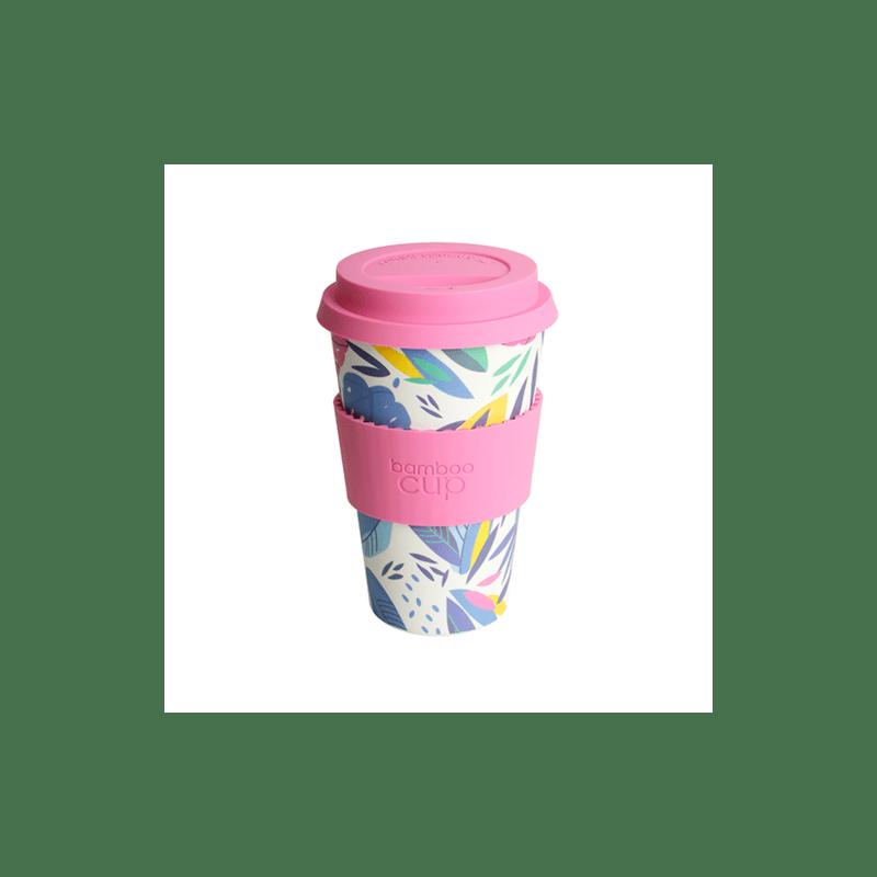 Bamboo Cup - Tasse à base de fibre de bamboo au motif feuille 400ml