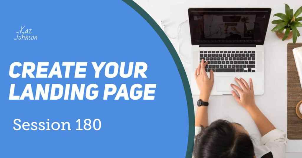 Create your landing page