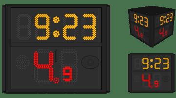 Four Side Shot Clock (FIBA 2017 Rule)