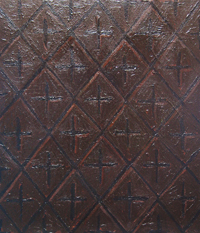 Chocoholic Diamond Pattern  : abstract geometric interior wall pattern painting, diamond pattern, abstract wall texture, geometric symbolism, impasto pattern, chocolate color, lozenges, pattern symbolism, decorative, ornamental pattern, acrylic painting #2250,2004 | Kazuya Akimoto Art Museum