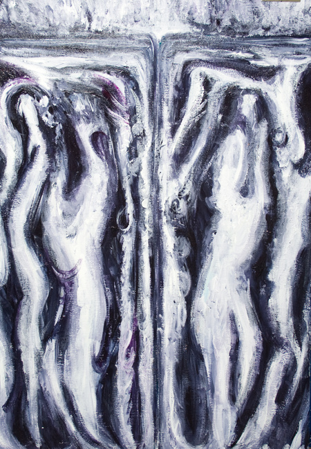 The Gates of Hell : new abstract surrealism painting,surreal dark abstract expressionism painting, abstract texture, black and white expressionism, abstract movement, ambiguous abstract forms, abstract hell, hell architecture, abstract hell, dark symbolism painting #9388, 2010 | Kazuya Akimoto Art Museum