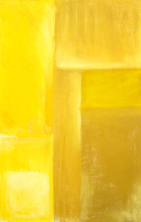 minimal, rectangular, yellow, slightest, cubism, cubist, geometric, rectangle, pastel painting pas100, 2003 | Kazuya Akimoto Art Museum