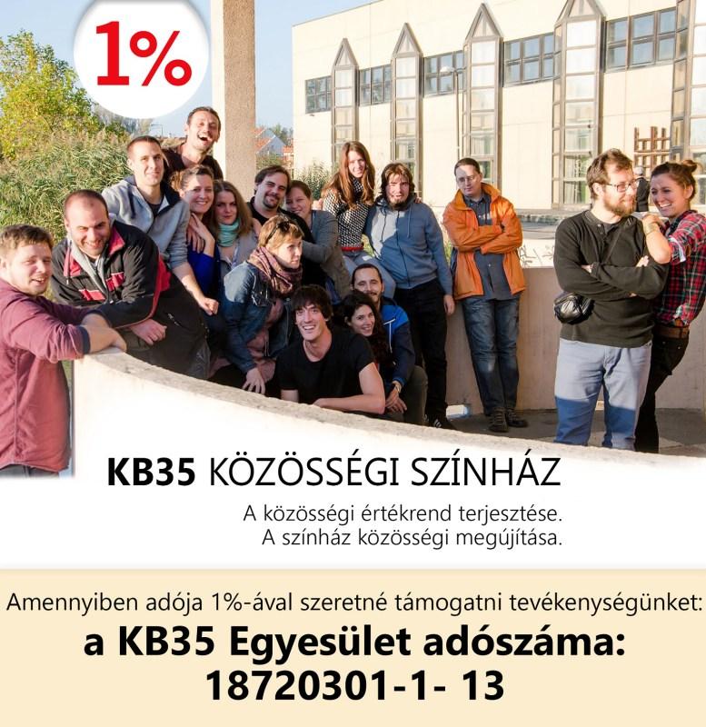 Amennyiben adója 1%-ával szeretné támogatni tevékenységünket: a KB35 Egyesület adószáma: 18720301-1-13