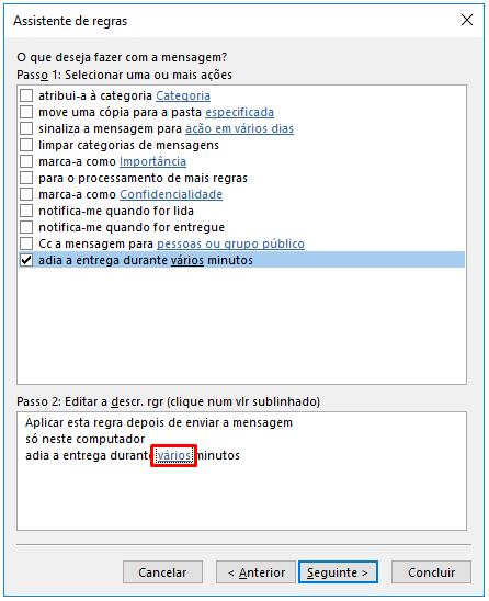 Outlook Adia a entrega durante varios minutos