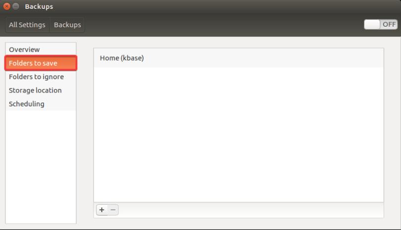 backup ubuntu folders to save