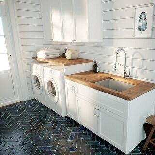 kraus khu24l pax zero radius 24 inch 18 gauge undermount single bowl stainless steel laundry and utility sink