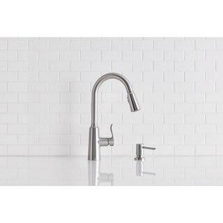 moen 87028srs edwyn one handle high arc pulldown kitchen faucet in spot resist stainless