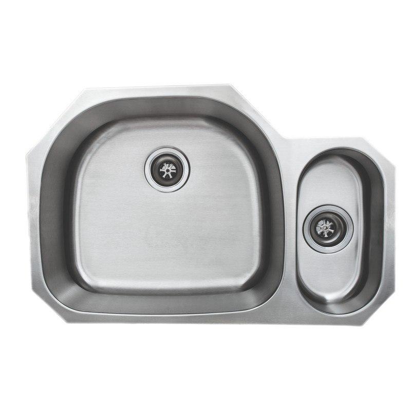 wells sinkware cmu3221 95d 1 craftsmen series 18 gauge 80 20 double bowl 32x21 inch undermount stainless steel kitchen sink package