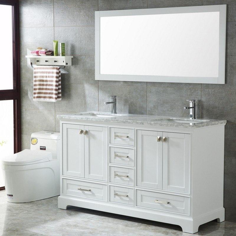 mtd mtd 7111 60mw havana 60 inch double sinks modern bathroom vanity in white