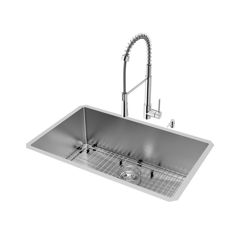 vigo vg15440 all in one 30 inch stainless steel undermount kitchen sink and laurelton chrome faucet set