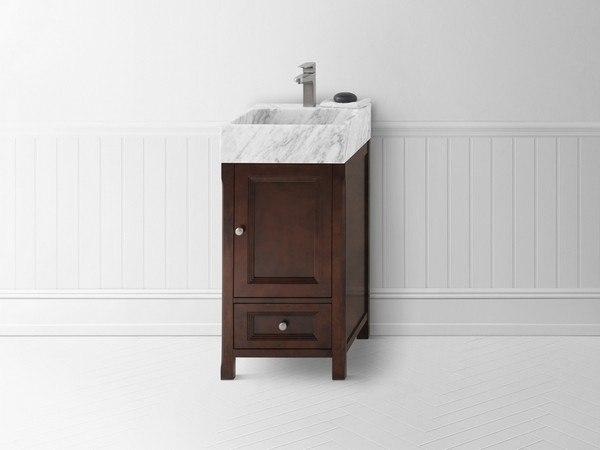 ronbow 051618 f07 juliet 18 inch bathroom vanity cabinet base in vintage walnut