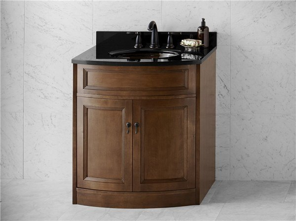 ronbow 060630 f13 marcello 30 inch bathroom vanity cabinet base in cafe walnut