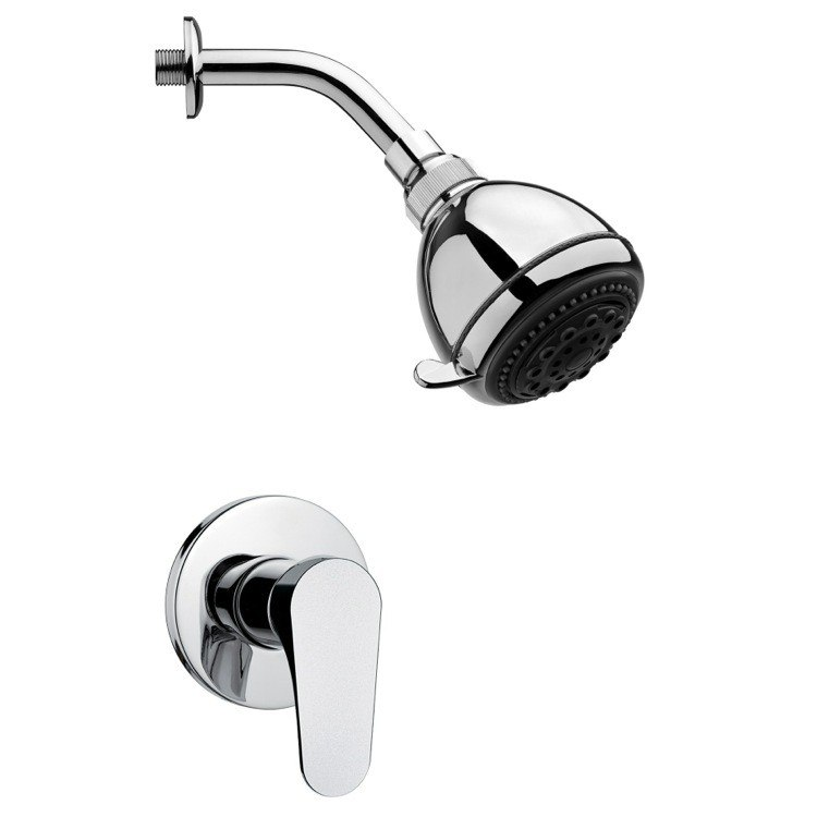 kingston brass kf112 generic twin handle 8 inch center tub and shower valve in polished chrome