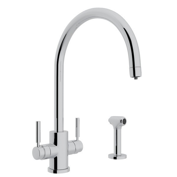 rohl u 12931ls 2 perrin rowe holborn filtration 2 lever single hole kitchen faucet with sidespray