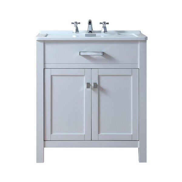 stufurhome gm y02w radiant 30 inch white single laundry sink vanity