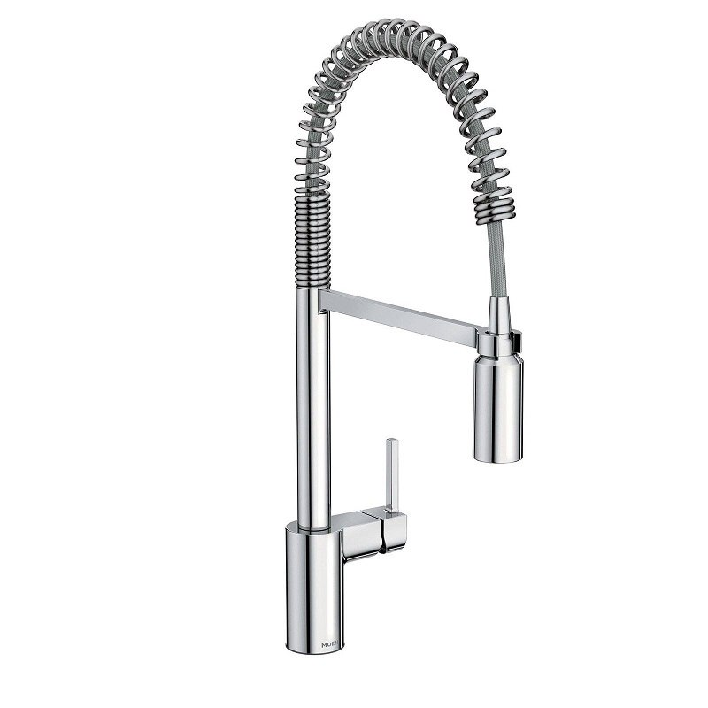 moen 5923 align one handle pre rinse spring pulldown kitchen faucet