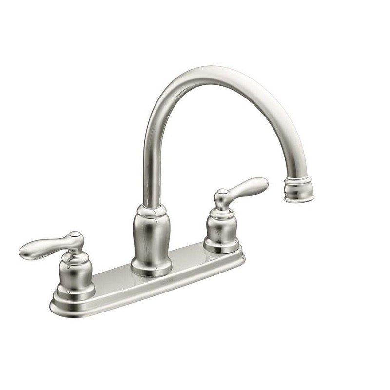 moen 87859 caldwell two handle high arc kitchen faucet in chrome