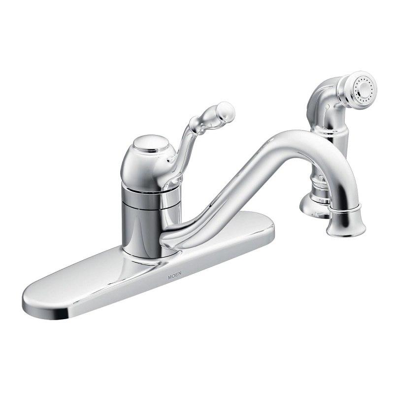 moen ca87009 lindley chrome one handle low arc kitchen faucet