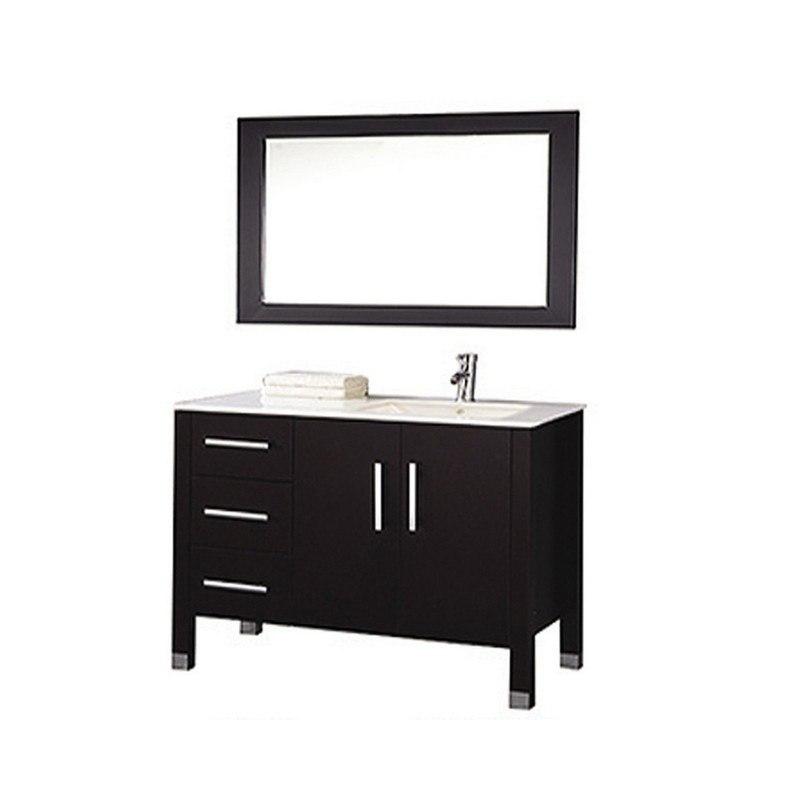 mtd mtd 8118c re monaco 40 inch single sink bathroom vanity in espresso sink on right side