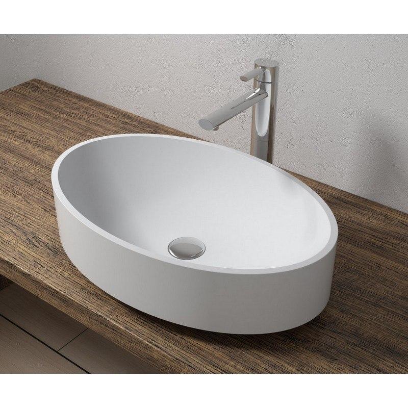 infurniture ws vs v43 g 22 x 14 inch polystone oval vessel bathroom sink in glossy white