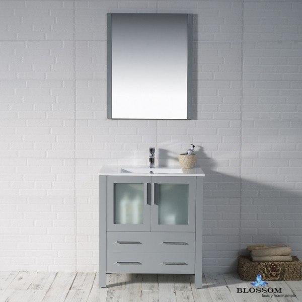 blossom 001 30 15 sydney 30 inch vanity set with mirror in metal grey