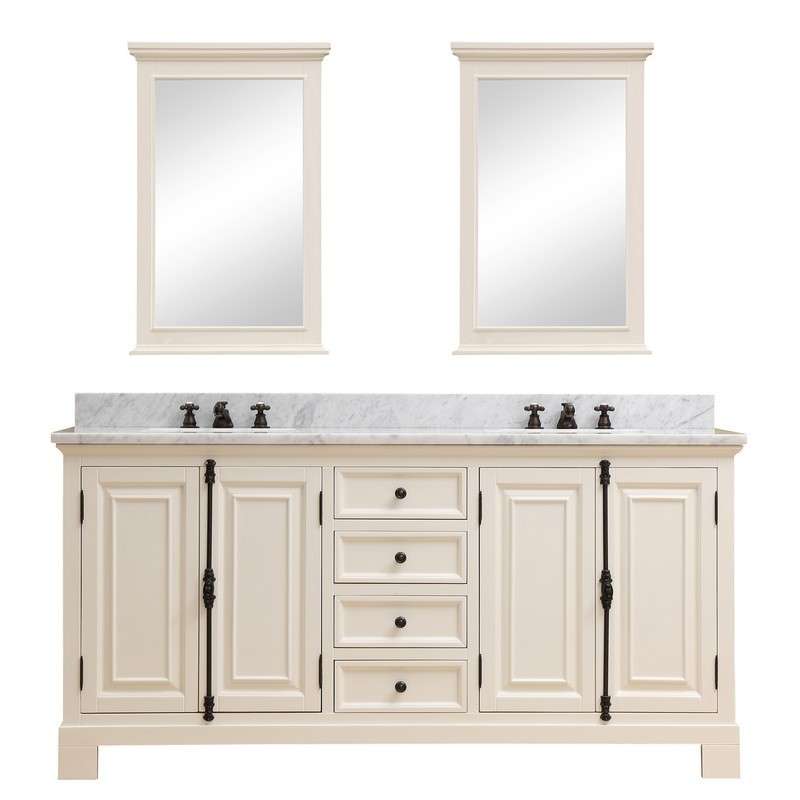 water creation greenwich72awcf greenwich 72 inch antique white double sink bathroom vanity with 2 matching framed mirrors and faucets