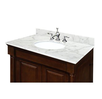sagehill designs ow3122 cw carrara white 31 inch carrara white marble vanity top with 4 inch backsplash sink included