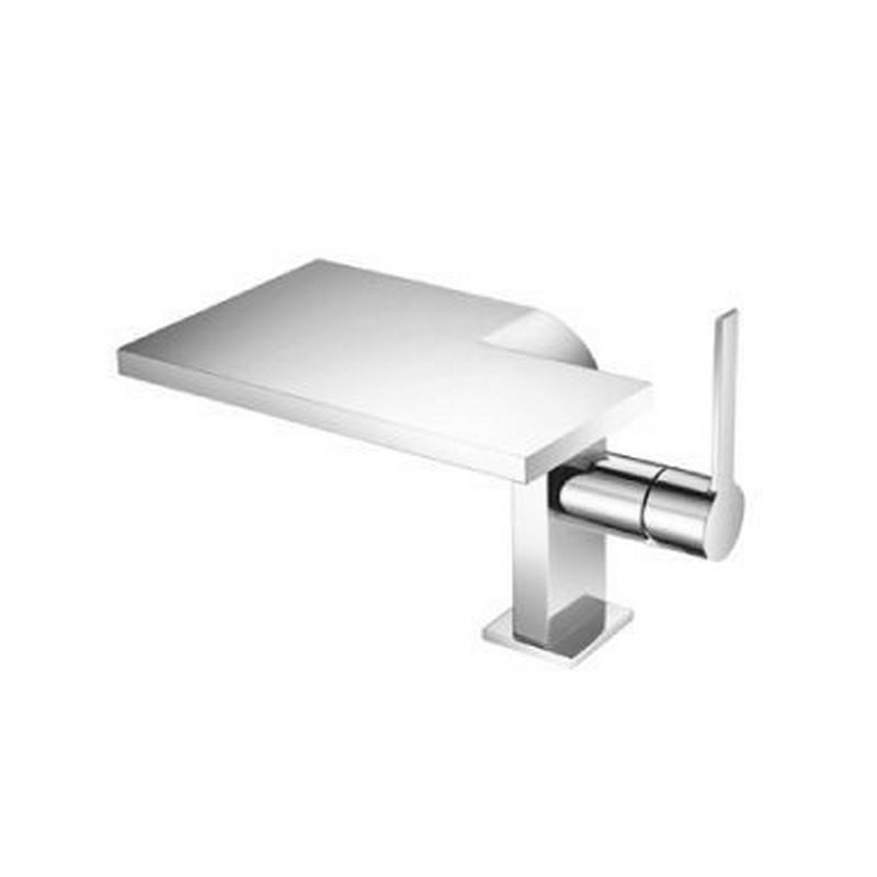 isenberg c1001cp single hole cascade flow waterfall bathroom faucet in chrome