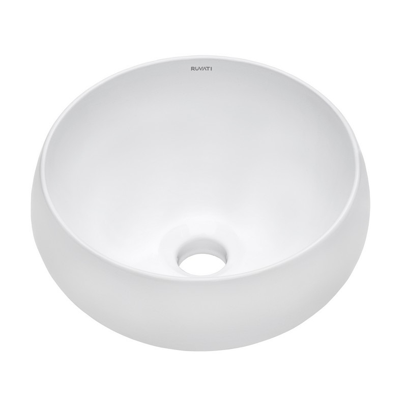 ruvati rvb0312 vista 12 x 12 inch round white circular above counter porcelain ceramic bathroom vessel sink
