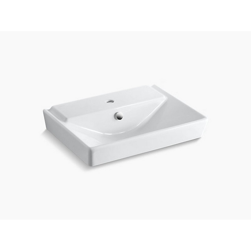 kohler k 5027 1 0 reve 23 inch pedestal bathroom sink basin with single faucet hole in white