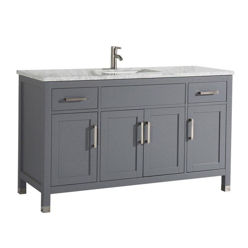 mtd mtd 6260sg ricca 60 inch single sink bathroom vanity in grey