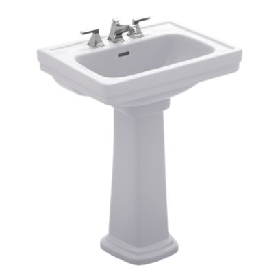 toto lpt532n promenade 24 x 19 1 4 inch pedestal lavatory with single hole
