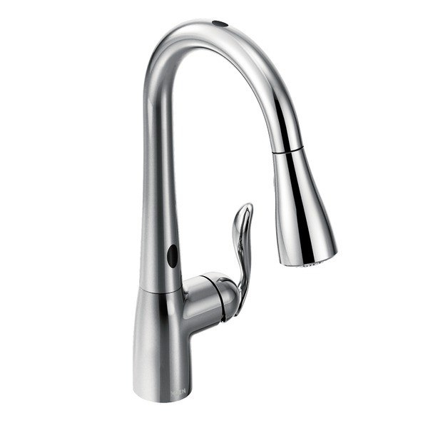 moen 7594e arbor with motionsense one handle high arc pulldown kitchen faucet